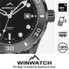 Fusion of Traditional Swiss Watchmaking and Winwatch's Patented NFC Hightech Inside Sapphire Crystal - Expect a NextGen Swiss watch. Enjoy smart functions. Just tap, done! (NFC Apps & Mobile Security). Winwatch watches are each one unique and authentic. The NFC chip inside the sapphire crystal has an unfalsifiable and unclonable digital serial number