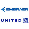 Embraer and United Airlines Sign Contract for 25 E175s - Embraer and United Airlines announced at the 2018 Farnborough Airshow that they signed a firm order for 25 E175 jets in a 70-seat configuration - United.com / Embraer.com