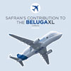 Airbus's Giant BelugaXL Cargo Plane Makes First Flight, with A Major Contribution from Safran - Safran employees involved in this program watched the first flight of the BelugaXL on Tuesday, July 19 from the Toulouse Blagnac airport - Airbus.com / SafranGroup.com